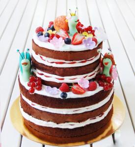 открытый торт