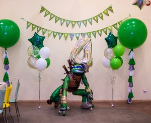 декор детского праздника черепашки нинзя