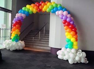радуга из воздушных шаров 2