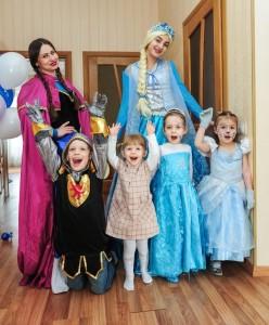 детский праздник Анна и Эльза