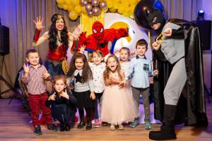 Супер герои детский день рождения