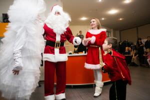 детский праздник в стиле Санта Клауса