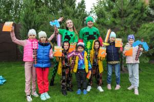 крутой детский праздник майнкрафт