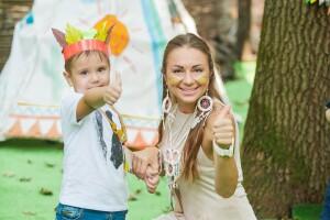 детский праздник в стиле индейцы