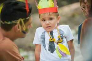детский праздник с индейцами