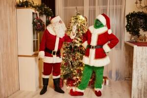 Санта Клаус и Гринч