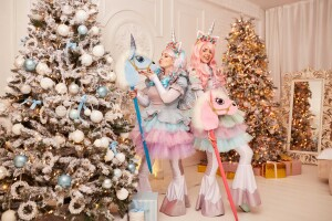 детский праздник с единорожками